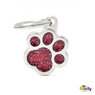 My Family - Shine & Reflective Paw Glitter Red (GL02R)
