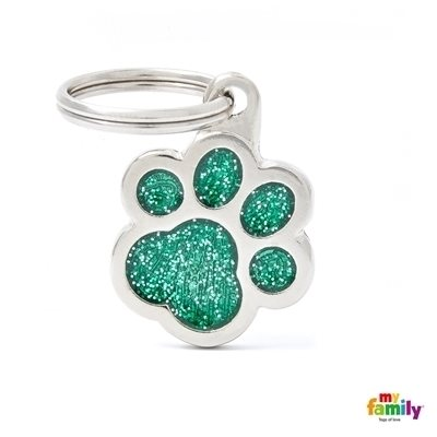 My Family - Shine & Reflective Paw Glitter Green (GL02V)