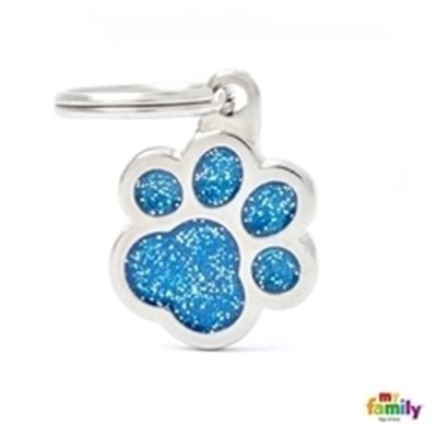My Family - Shine & Reflective Paw Glitter Blue (GL02B)
